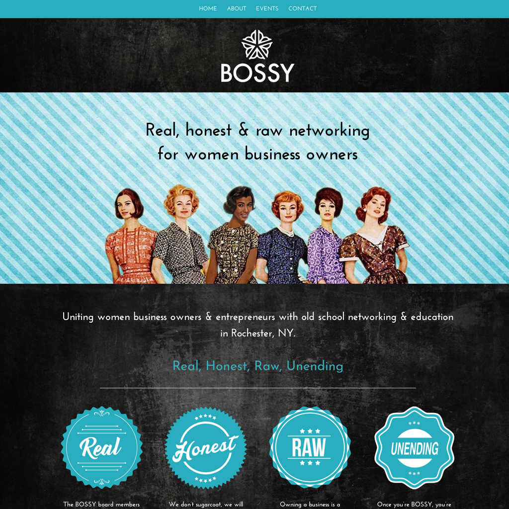 Website Design – Bossy Rochester