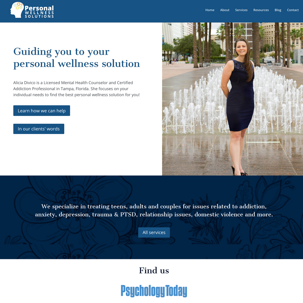Website Design – Personal Wellness Solutions