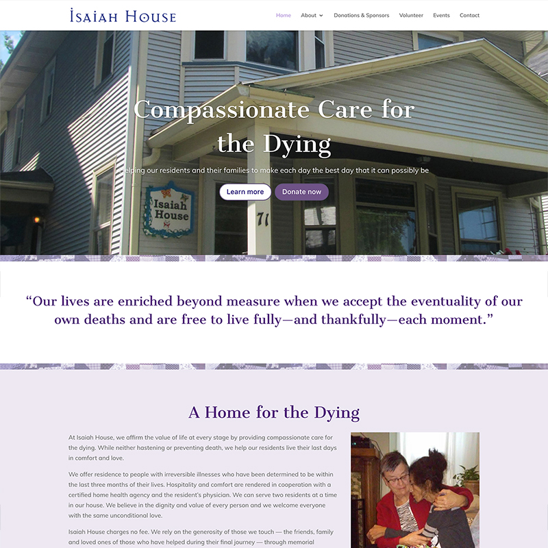 Website Design – Isaiah House