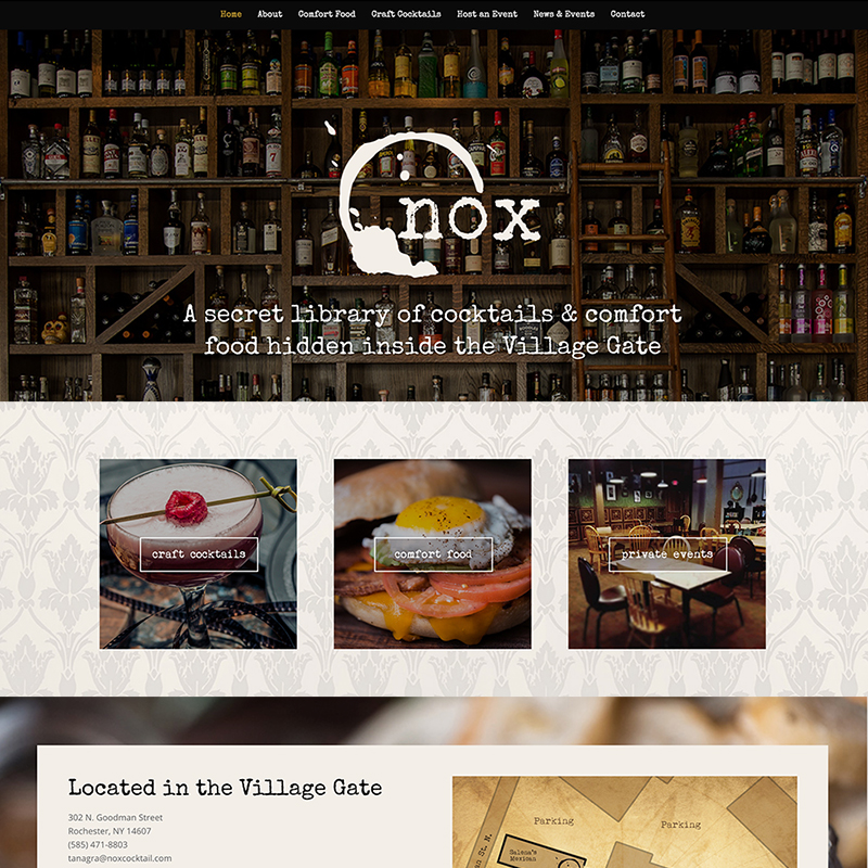 Website Design – Nox Cocktail Lounge