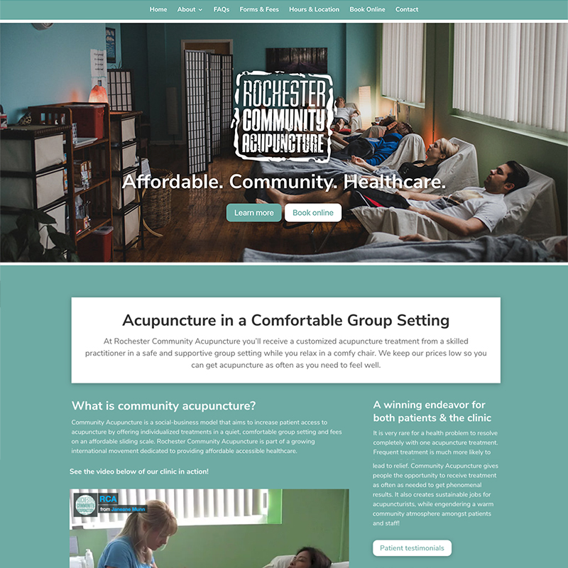 Website Design – Rochester Community Acupuncture