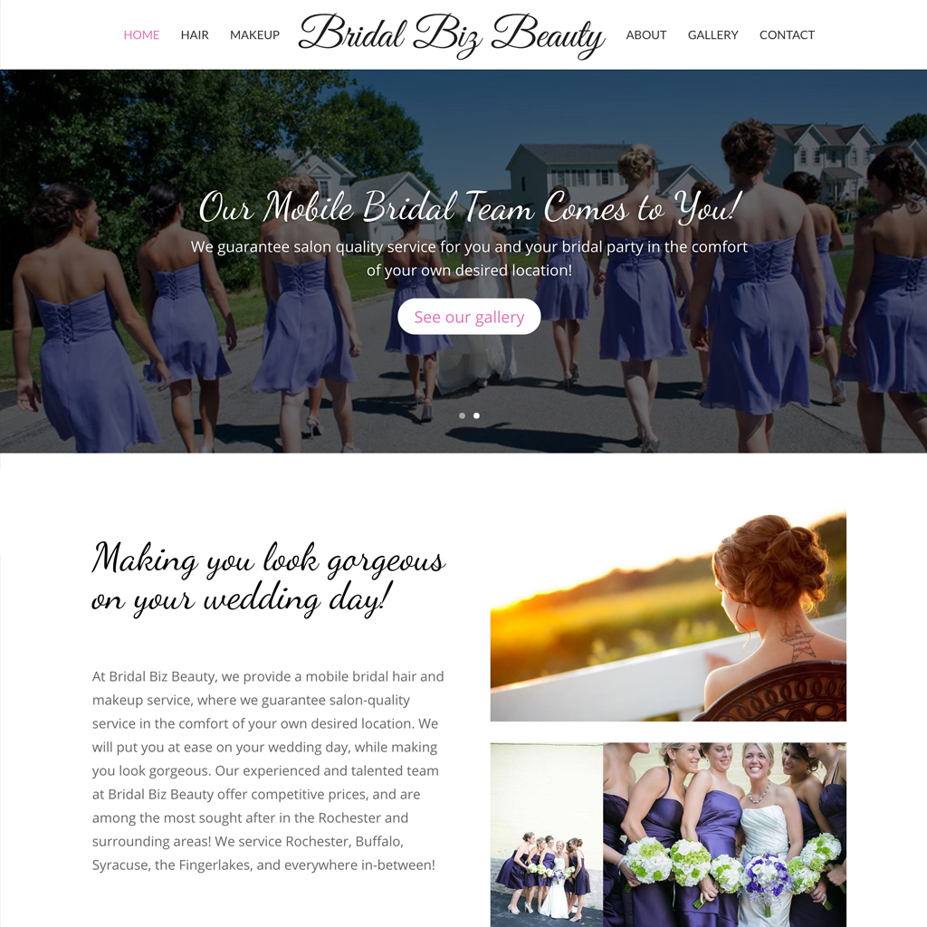 Website Design – Bridal Biz Beauty