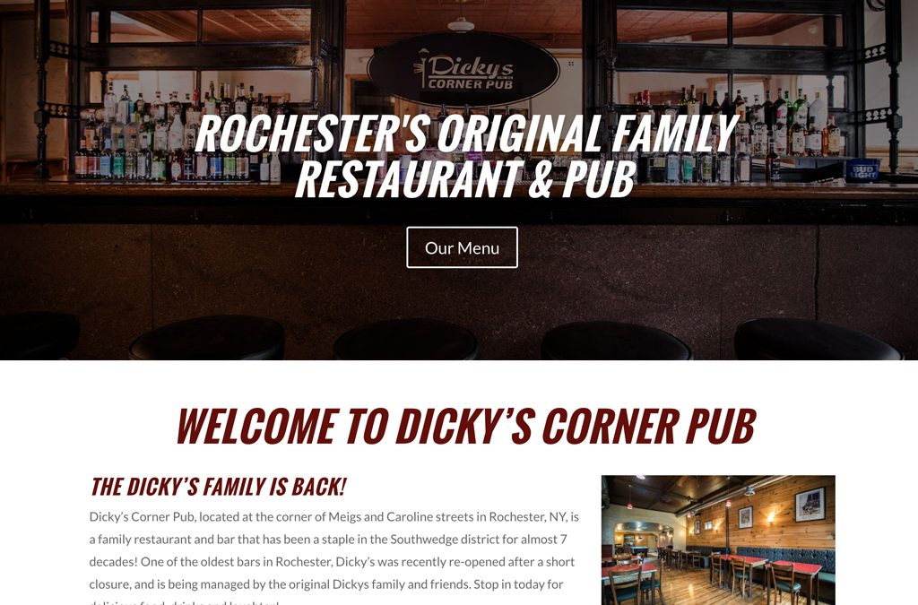 Website Design – Dicky's Corner Pub